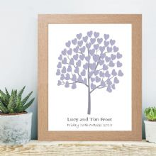 A3 Tree of Hearts Signature Tree - Wedding, Christening, Baptism Guest book Alternative